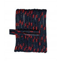 FootGalaxy High Quality Round Laces For Boots And Shoes, Navy With Red Chip
