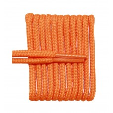 FeetPeople High Quality Round Laces For Boots And Shoes, Pumpkin Orange
