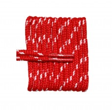 FootGalaxy High Quality Round Laces For Boots And Shoes, Red With White Chip