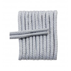 FootGalaxy High Quality Round Laces For Boots And Shoes, Silver