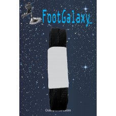 FootGalaxy Strong Flat Laces, Black Reinforced w/ Black Kevlar