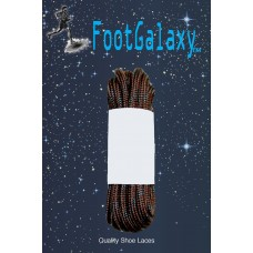 FootGalaxy Strong Round Laces, Brown Reinforced w/ Black Kevlar