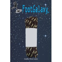 FootGalaxy Strong Round Laces, Brown Reinforced w/ Natural Kevlar