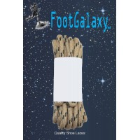 FootGalaxy Strong Round Laces, Tan Reinforced w/ Black Kevlar
