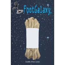 FootGalaxy Strong Round Laces, Tan Reinforced w/ Natural Kevlar