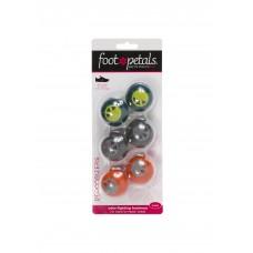 Foot Petals Odor Fighting Sneaker Deoderizers, 3 Pair, Grey/Orange/Green