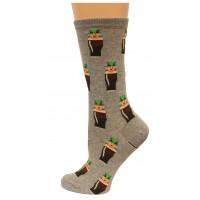 HotSox Womens Leprechauns Socks, Sweatshirt Grey Heather, 1 Pair, Womens Shoe 4-10