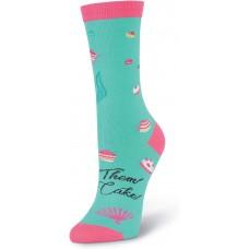 K. Bell Mermaid Antoinette, Turquoise, Womens Sock Size 9-11/Shoe Size 4-10, 1 Pair