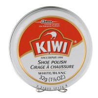 Kiwi Shoe Polish, White, 1.125 Ounces