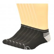 Lee Men's Low Cut Antimicrobial & Odor Control Socks 6 Pair, Black, Men's 6-12