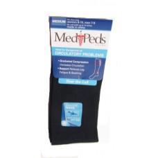 MediPeds Nylon Over the Calf, 1 Pair, Medium, Navy