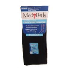 MediPeds Nylon Over the Calf, 1 Pair, Medium, Black