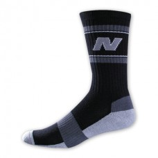 NB Varsity Crew Socks, Medium, Black, 1 Pair