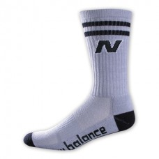 NB Varsity Crew Socks, Medium, Gray, 1 Pair