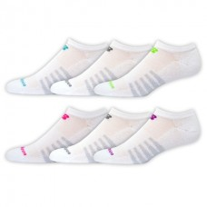NB Core Cotton No Show Socks, Medium, White, 6 Pair