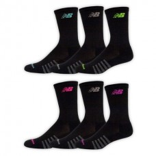 NB Core Cotton Crew Socks, Medium, Black, 6 Pair