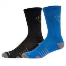 NB Core Performance Crew Socks, Large, Ast1, 2 Pair