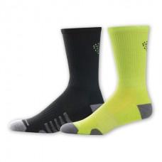 NB Core Performance Crew Socks, Large, Ast2, 2 Pair