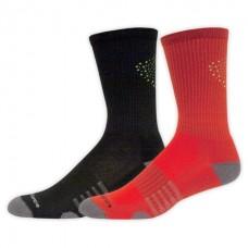 NB Core Performance Crew Socks, Large, Ast3, 2 Pair