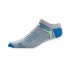 NB Tech Elite Nbx Hydrotec No Show Socks, Large, Gr/Bl, 1 Pair
