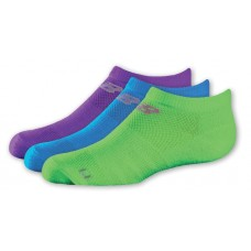 NB Kids No Show Socks, Large, Ast1A, 3 Pair