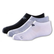 NB Kids No Show Socks, Large, Ast2A, 3 Pair