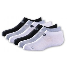 NB Kids No Show Socks, Large, Ast2, 6 Pair