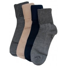 Peds Turn Cuff Socks, Assorted Colors, Women Size 5-10, 4 Pair