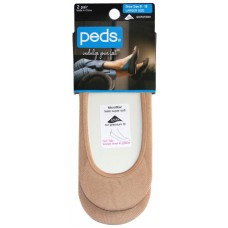 Peds Seamless Ultra Low Cut Liner, Women Size 8-12, 2 Pair (Nude)