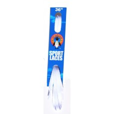 Penguin Flat Laces, 36, White