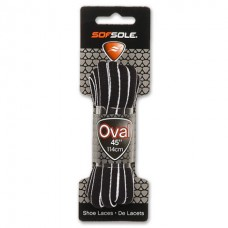 Sof Sole Oval Piped - Dog Bone, Black / White, 54 Inch