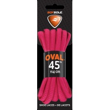 Sof Sole Athletic Oval Shoe Lace, Neon Pink, 45-Inch