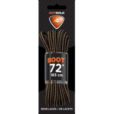 Sof Sole Round Boot Laces (Brown/Black, 72-Inch)
