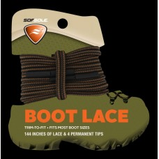 Sof Sole Trim-to-Fit Boot Lace (Brown/Black Stripe, 144-Inch)
