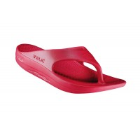 Telic Flip Flop Arch Supportive Recovery Sandal Unisex, Cranberry