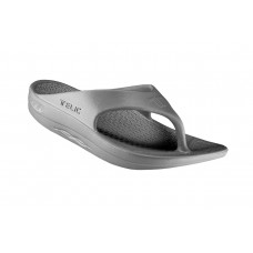 Telic Flip Flop Arch Supportive Recovery Sandal Unisex, Gray