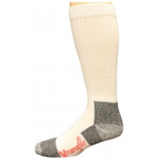 Riggs by Wrangler Cotton Work Boot Sock Over the Calf 2 Pack, White, M 8.5-10.5