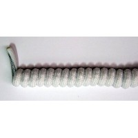 FootGalaxy Twister Curly Laces, White