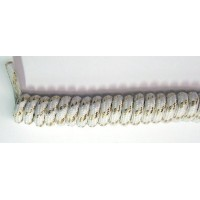 FootGalaxy Twister Curly Laces, White with Gold